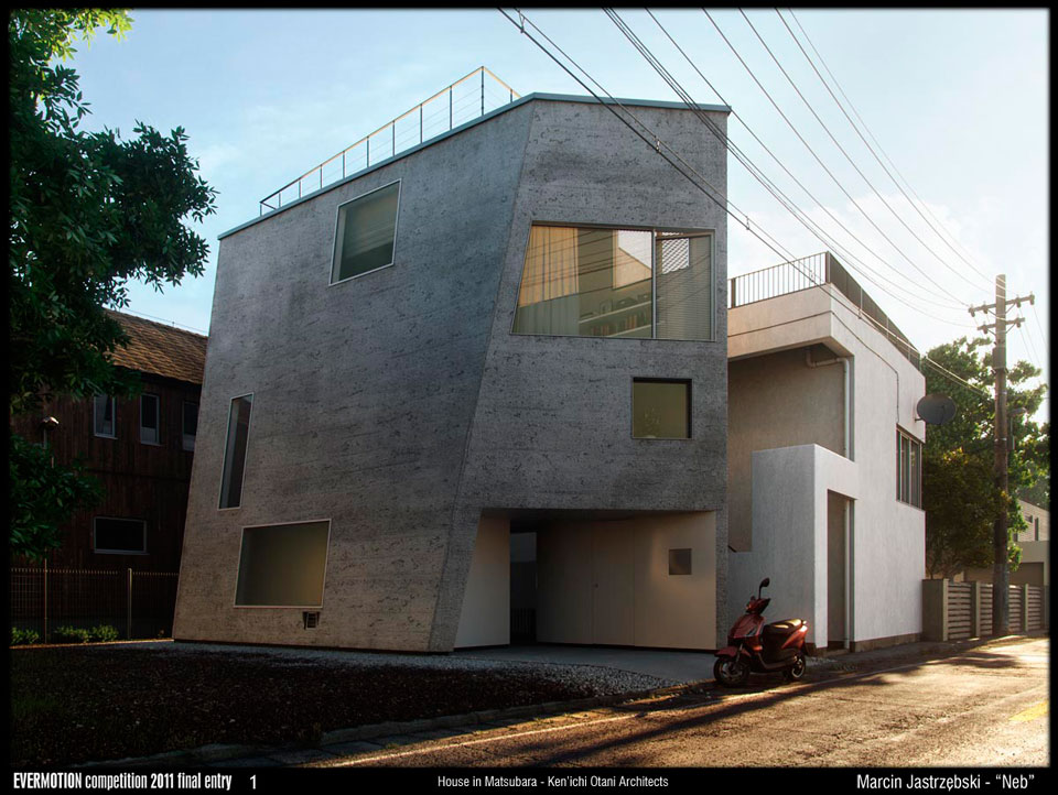 Making of house in matsubara kenichi otani architects for Cinema 4d architecture